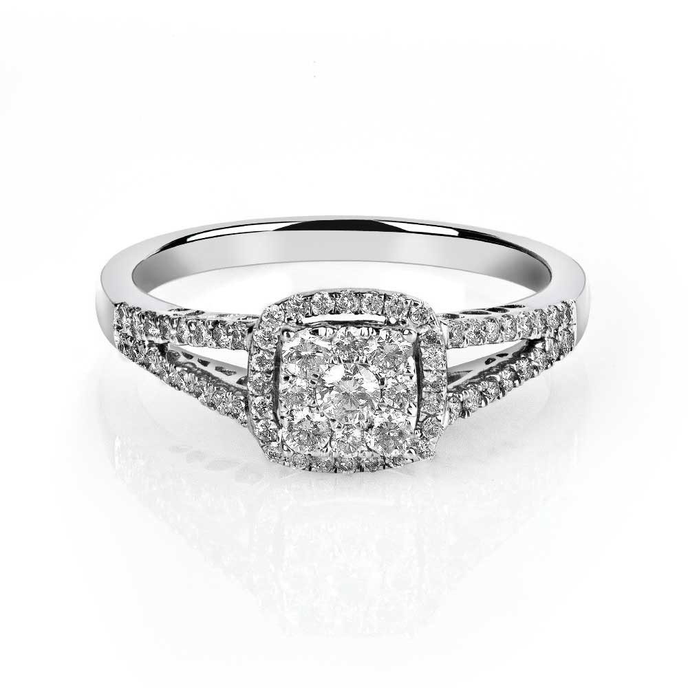 deco retro under vintage art engagement diamond ring promise white cheap rings gold moissanite jewellery milgrain