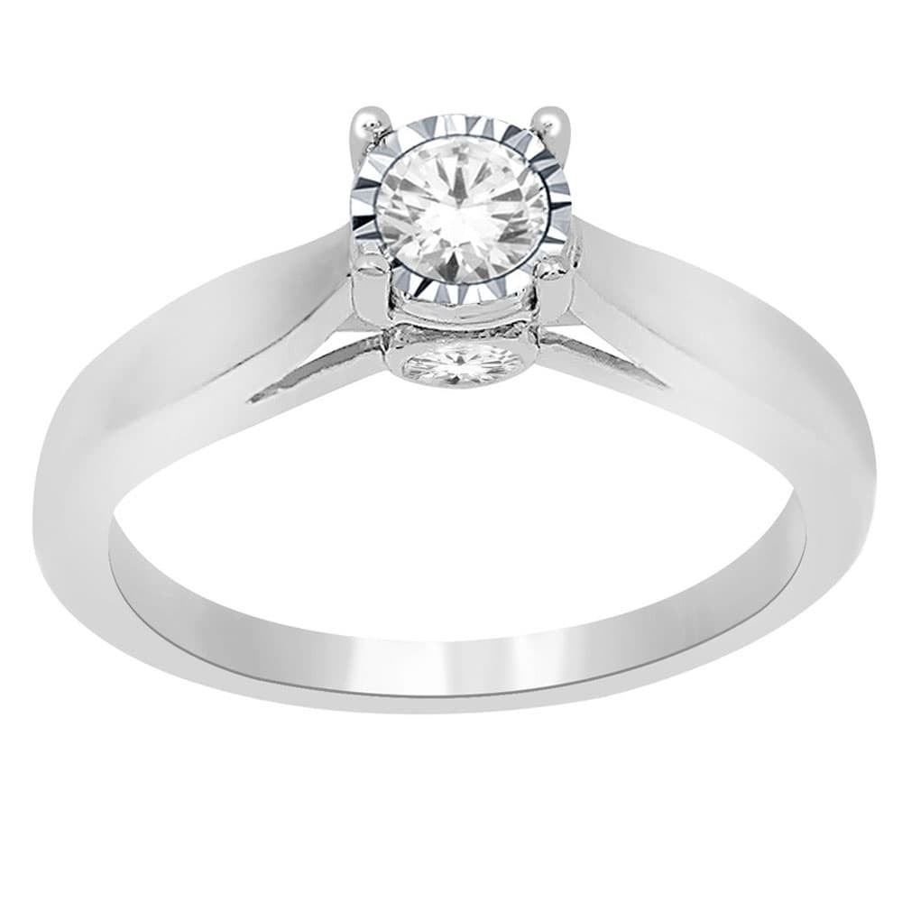 four ring channel pinched set prong diamond platinum engagement products
