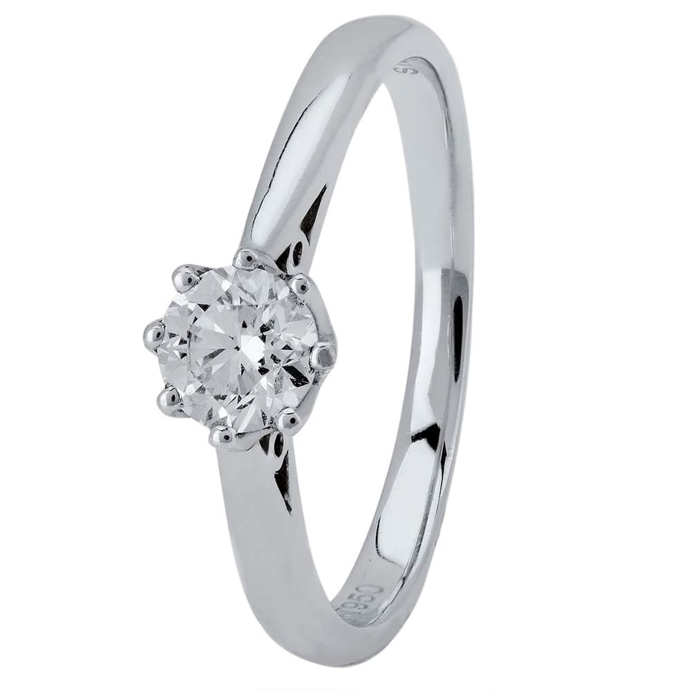18ct White Gold Eight Claw Cathedral-Set Diamond Solitaire Ring (min 0.50ct)  CR11065 18KW .50CT e58bc2035