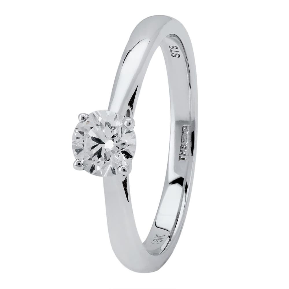 Platinum Four Claw Basket-Set Diamond Solitaire Ring (min 0.50ct)  CR11066 PT950.50CT c94fb1ea8