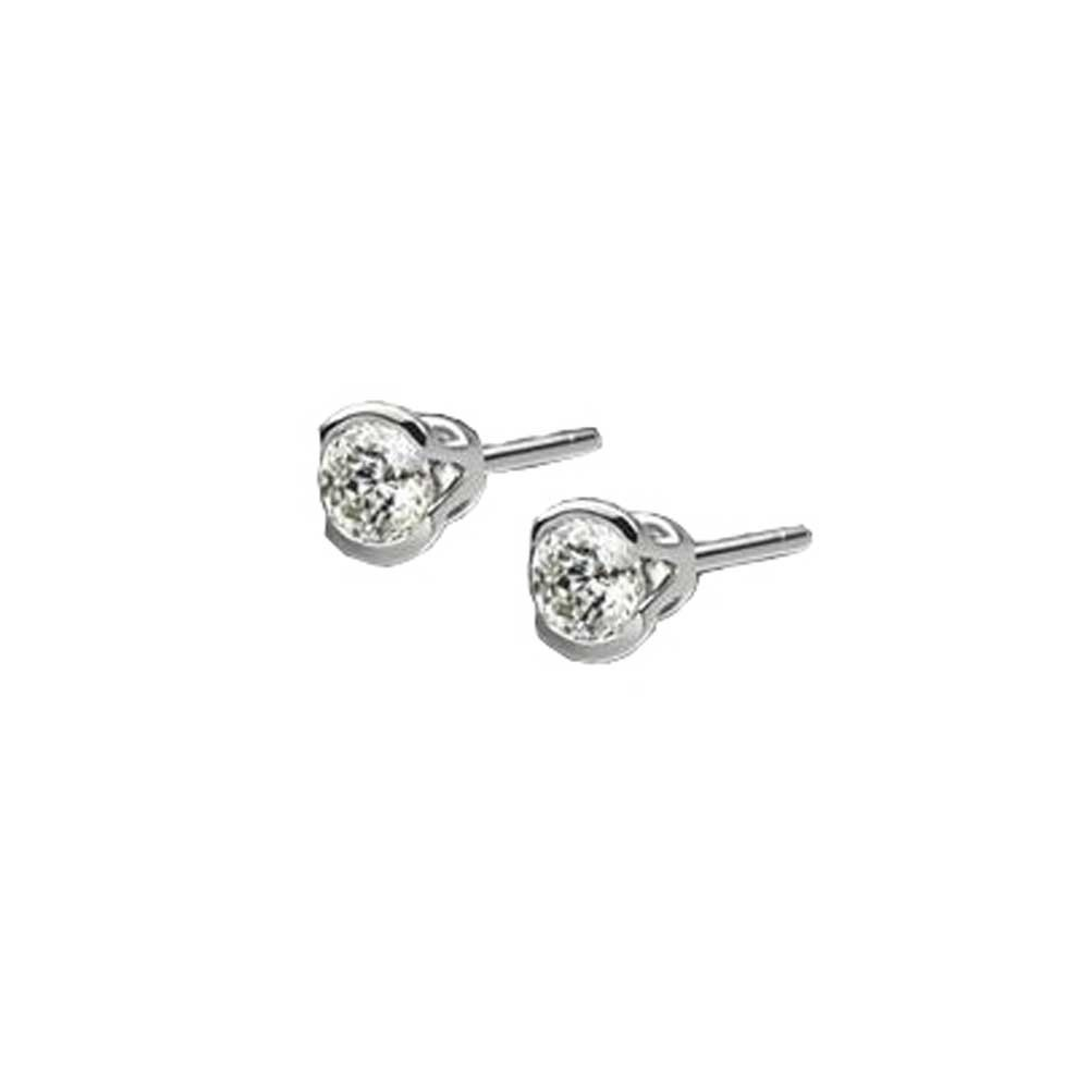 4058cfd97b433d Mastercut Contemporary 18ct White Gold Single Stone 0.30ct Diamond Earrings  C2ER001 030W