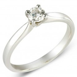 9ct White Gold Solitaire Diamond 0.25ct Ring 8636/9W/DQ1025 O