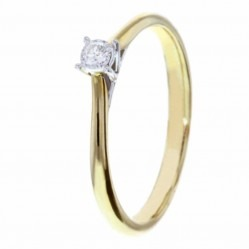 9ct Gold Diamond Solitaire Ring S4457D-9Y-005G N