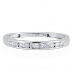 14ct White Gold 0.20ct Diamond Channel Set Half Eternity Ring SKR20962-20 14CT M