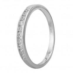 9ct White Gold 0.20ct Diamond Channel Set Half Eternity Ring SKR20962-20