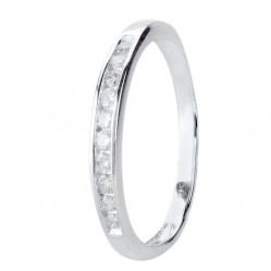 9ct White Gold 0.20ct Diamond Channel Set Half Eternity Ring SKR20962-20