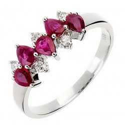 18ct White Gold Ruby and Diamond Eternity Ring 18DR345-R-W