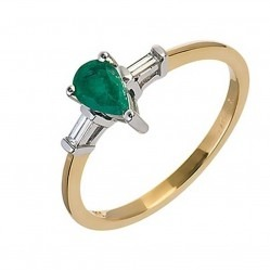18ct Yellow Gold Emerald and Diamond Ring 18DR277-E-2C