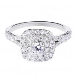 9ct White Gold Diamond Cluster Ring SKR14620-100