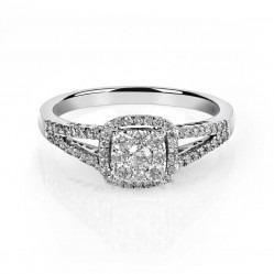 9ct White Gold Diamond Cluster Ring SKR19764-100SOD