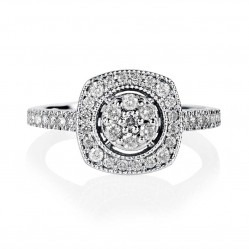 9ct White Gold 0.50ct Square Diamond Cluster Ring SKR15485-50
