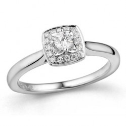 9ct White Gold Diamond Square Cluster Ring 32.08415.006 N