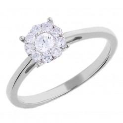 9ct White Gold 0.33ct Diamond Cluster Ring SKR3146