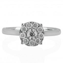 9ct White Gold 0.50ct Diamond Round Ring SKR2963