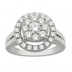 18ct White Gold 1.00ct Diamond Halo Cluster Ring SKR19511-100