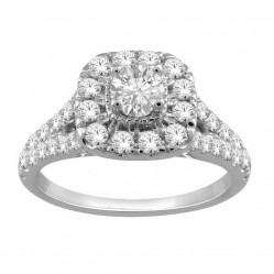 18ct White Gold 1.00ct Diamond Cluster Ring SKR19551-100