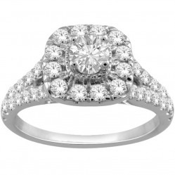 18ct White Gold 1.00ct Diamond Cluster Ring SKR19551-100