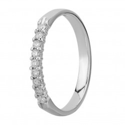 9ct White Gold 0.15ct Diamond Claw Set Half Eternity Ring SKR4676-15