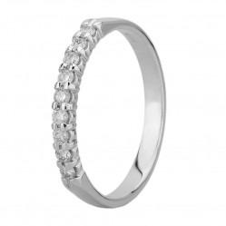 9ct White Gold 0.25ct Diamond Claw Set Half Eternity Ring SKR4676-25 M