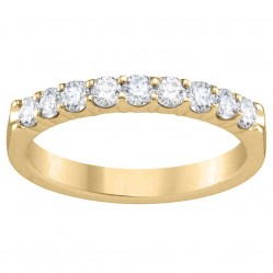9ct Yellow Gold 0.25ct Diamond Claw Set Half Eternity Ring SKR4676-25 Q