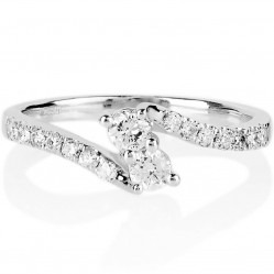 18ct White Gold 1.00ct Diamond Twin Twist Ring SKR15887-100 L