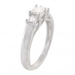 9ct White Gold Three Stone 0.50ct Diamond Ring SKR4971