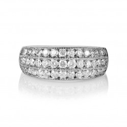 9ct White Gold Triple Row 1.00ct Diamond Ring SKR15381-100