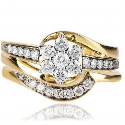 9ct Gold 0.75ct Diamond Bridal Set SKR15237-75