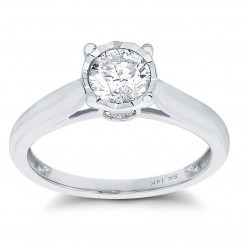 9ct White Gold Illusion Set 0.50ct Solitaire Ring SKR15625-50