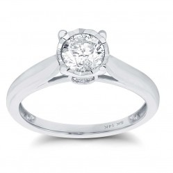 9ct White Gold Illusion Set Solitaire 0.25ct Ring SKR15625-25