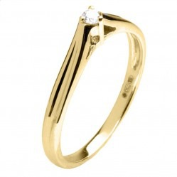 18ct Yellow Gold Diamond Solitaire Ring 18DR350-Y