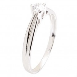 18ct White Gold 3 Claw 0.21ct Diamond Solitaire Ring 18DR392-W