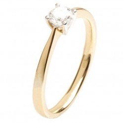 18ct Gold 4 Claw 0.32ct Diamond Solitaire Ring 18DR420-2C