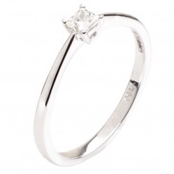 18ct White Gold Diamond Solitaire Ring 18DR421-W