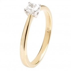 18ct Gold Diamond Solitaire Ring 18DR422-2C