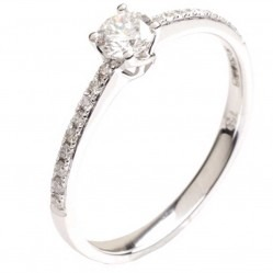 18ct White Gold Diamond Solitaire Ring 18DR424-W