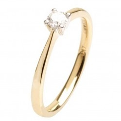 18ct Gold 0.17ct Diamond Solitaire Ring 18DR426-2C