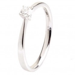 18ct White Gold 0.17ct Diamond Solitaire Ring 18DR426-W