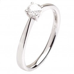 18ct White Gold 0.26ct Diamond Solitaire Ring 18DR427-W