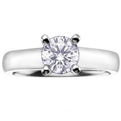 18ct White Gold 0.70ct Solitaire Diamond Ring 1800WG-70-18 M