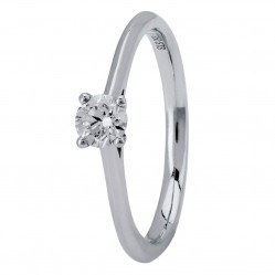 18ct White Gold Four Claw Cathedral-Set Diamond Solitaire Ring (min 0.18ct) CR11067/18KW/.20CT