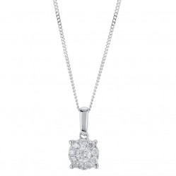9ct White Gold 0.25ct Diamond Pendant SKP2701