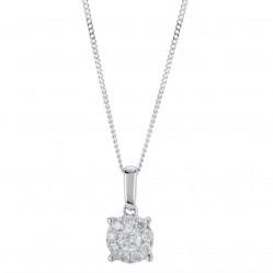 9ct White Gold 0.25ct Diamond Pendant SKP2701