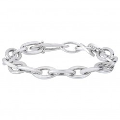 "Sterling Silver Oval Link 7.5"" Bracelet 3203352"