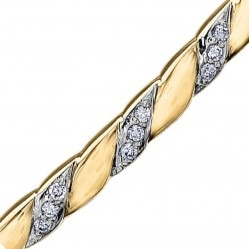 9ct Diamond Narrow Twist Bangle BR867/13-10
