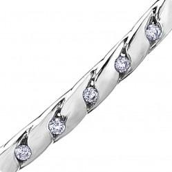 9ct White Gold Diamond Cut-out Bangle BR871W/15-10