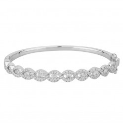 9ct White Gold 3.00ct Diamond Bangle SKBG22072-300