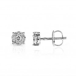 9ct White Gold 0.25ct Diamond Stud Earrings SKE5862