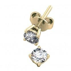 9ct Two-tone Diamond Stud Earring 5035E/9T/DQ10