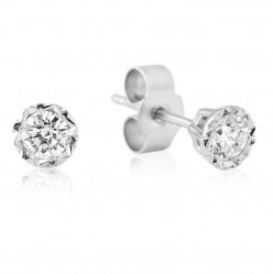 9ct White Gold Illusion Set Diamond 0.10ct Stud Earrings 5327/9W/DQ1010
